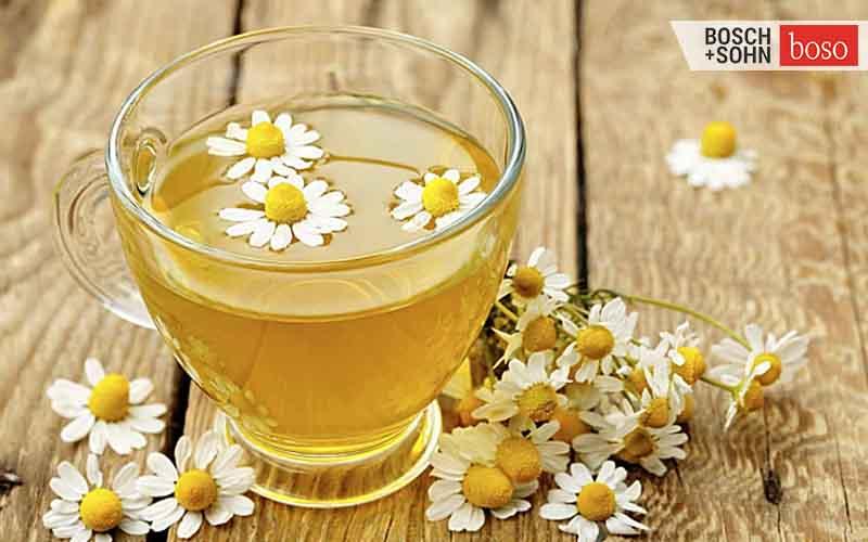trà hoa cúc giúp dễ ngủ